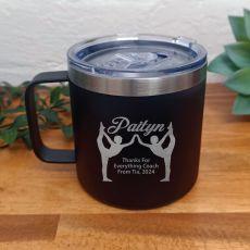 Gymnastics Coach Travel Tumbler Coffee Mug 14oz Black