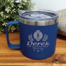 Football Coach Travel Tumbler Coffee Mug 14oz Cobalt
