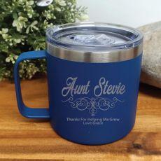 Aunty Cobalt Travel Tumbler Coffee Mug 14oz