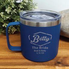 Bride Travel Tumbler Coffee Mug 14oz Cobalt