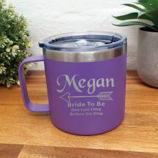 Bride Travel Tumbler Coffee Mug 14oz Purple