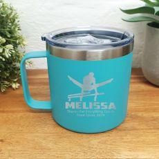 Gymnastics Coach Travel Tumbler Coffee Mug 14oz Teal