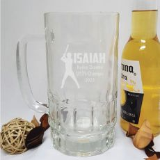 Baseball Coach Engraved Personalised Glass Beer Stein