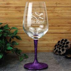 Baseball Coach Engraved Personalised Wine Glass