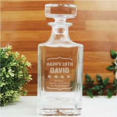 18th Birthday Engraved Personalised Whisky Decanter 700ml