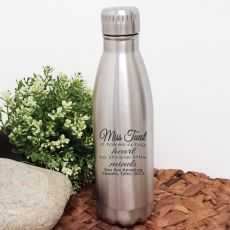 Teacher Engraved Stainless Steel Drink Bottle - Little Minds