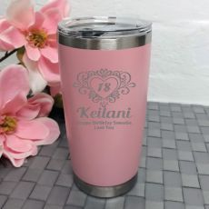18th Birthday Insulated Travel Mug 600ml Dusky Pink