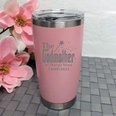 Godmother Travel Mug Insulated 600ml Dusky Pink