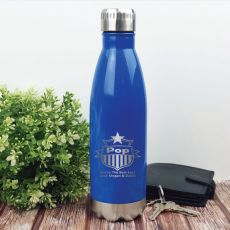 Pop Personalised Stainless Steel Drink Bottle - Blue