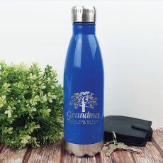 Grandma  Personalised Stainless Steel Drink Bottle - Blue
