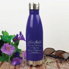 Teacher Engraved Purple Drink Bottle - Dream