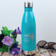 Dance Coach Engraved Stainless Steel Drink Bottle - Teal