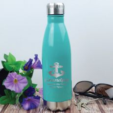 Grandpa Personalised Stainless Steel Drink Bottle - Teal