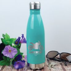 Personalised Engraved Stainless Steel Drink Bottle - Teal (M)