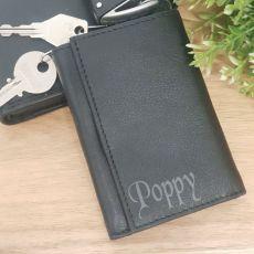 Pop Engraved Leather Key & RFID Card Holder