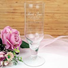Aunt Engraved Personalised Pilsner Glass