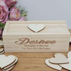 21st Wooden Guest Book Message Box
