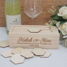 Wooden Engagement Guest Book Message Box