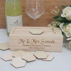 Wooden Wedding Guest Book Message Box