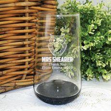 Teacher Engraved Personalised Glass Tumbler 400ml