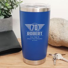 70th  Insulated Travel Mug 600ml Dark Blue (M)