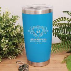 Birthday Insulated Travel Mug 600ml Light Blue (F)