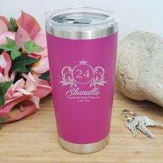 Birthday Insulated Travel Mug 600ml Pink