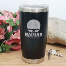 Swim Coach Engraved Insulated Travel Mug 600ml Black