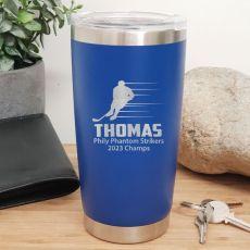 Hockey Coach Engraved Insulated Travel Mug 600ml Dark Blue