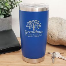 Grandma Insulated Travel Mug 600ml Dark Blue