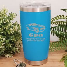 Grandpa Insulated Travel Mug 600ml Light Blue