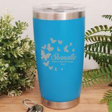 Personalised Insulated Travel Mug 600ml Light Blue (F)