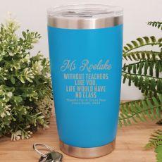 Teacher Insulated Travel Mug 600ml Blue - No Class