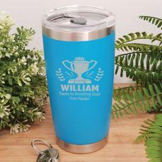Coach Engraved Insulated Travel Mug 600ml Light Blue
