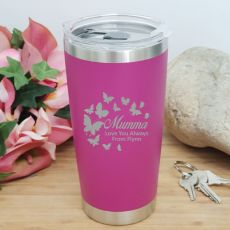 Mum Insulated Travel Mug 600ml Pink