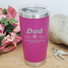 Dad Insulated Travel Mug 600ml Pink