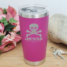 Personalised Insulated Travel Mug 600ml Pink (M)
