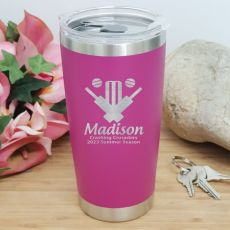 Cricket Coach Insulated Travel Mug 600ml Pink