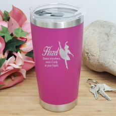 Dance Coach Insulated Travel Mug 600ml Pink