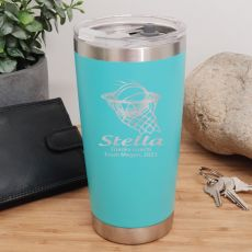 Basketball Coach Insulated Travel Mug 600ml Teal