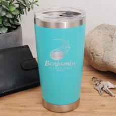 Cricket Coach Insulated Travel Mug 600ml Teal