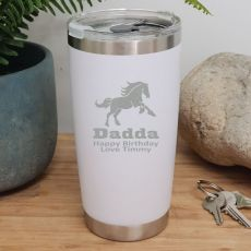 Dad Insulated Travel Mug 600ml White