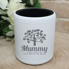 Mum Engraved White Can Cooler Personalised Message