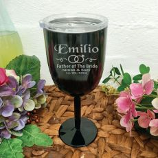 Father of the bride Wine Glass Black Stainless Goblet