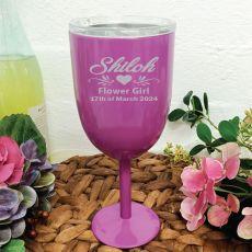 Flower Girl Purple Wine Stainless Goblet
