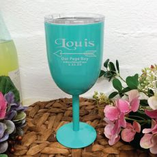 Page Boy Wine Glass Teal Stainless Goblet