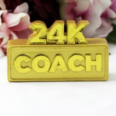 24K Coach Gold Bar Paper Weight