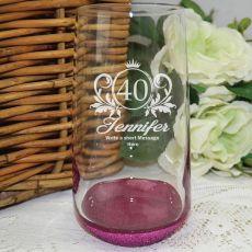 40th Birthday Engraved Personalised Glass Tumbler