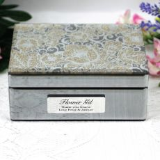Flower Girl Jewellery Box Mirrored Golden Glitz