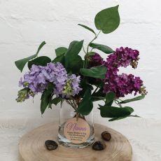 Floral Lavender Blue Lilac Mix in Vase For Nana